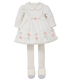 Little Me® Baby Girls' Snow Princess Dress and Tights Set