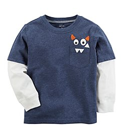 Carter's Baby Boys' Layered-Look Monster Pocket Tee