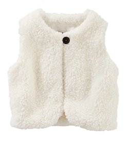 OshKosh B'Gosh Baby Girls' Faux Sherpa Vest