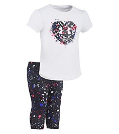 Under Armour® Baby Girls' Newborn-24M Heart Splatter Tee and Leggings Set