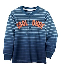 Carter's Boys' 2T-8 Long Sleeve Striped Shirt