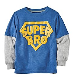 Carter's Boys' 2T-8 Long Sleeve Super Bro Shirt