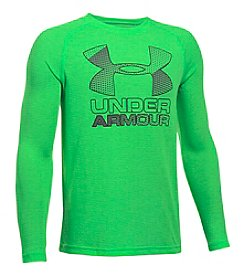 Under Armour® Boys' 8-20 Long Sleeve Hybrid Big Logo Shirt