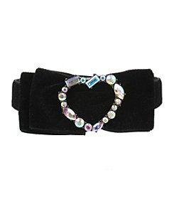 Betsey Johnson® Black and Hematite Bow Choker Necklace