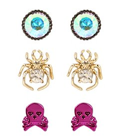 Betsey Johnson® Spider Trio Stud Set
