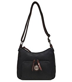 GAL Textured Organizer Hobo With Contrast Trim