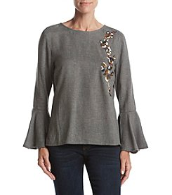 Philosophy by Republic Clothing Bell Sleeves Embroidered Top