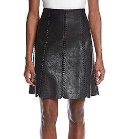 Philosophy by Republic Clothing Faux Leather Skirt