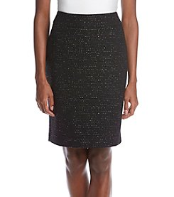 Nine West® Sequin And Tweed Skirt