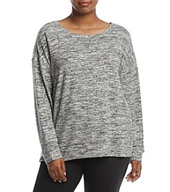 Calvin Klein Performance Plus Size Heather Pattern Pullover Sweater