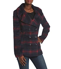 Rampage® Cailee Plaid Peacoat