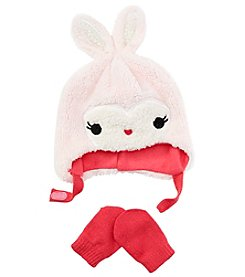 Miss Attitude Baby Girls' Bunny Hat And Gloves Set