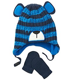 Statements® Baby Boys' Bear Hat And Mittens Set