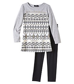 A. Byer Girls' 7-16 Long Sleeve Top And Leggings Set