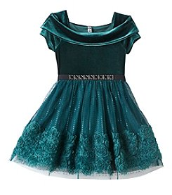 Beautees Girls' 7-16 Marilyn Neck Dress And Skirt