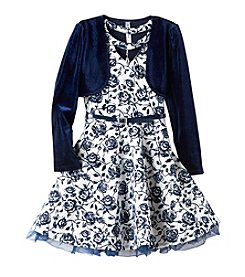 Beautees Girls' 7-16 Dress And Cardigan