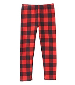 Carter's Girls' 4-8 Buffalo Check Fleece Leggings