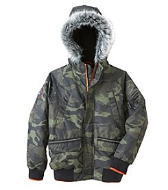 Hawke & Co. Boys' 8-20 Hooded Bomber Jacket