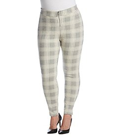 HUE® Plaid Loafer Leggings