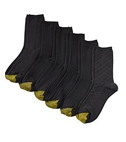 GOLD TOE® 6-Pack Textured Casual Crew Socks