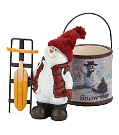 A Cheerful Giver Sledding Willie Candle Set