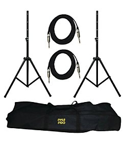 Pyle Pro Heavy-Duty Pro Audio Speaker Stand & 1/4'' Cable Kit