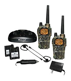 Midland 36-Mile Camo GMRS Radio Pair Pack With Drop-In Charger & Rechargeable Batteries