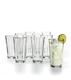 LivingQuarters Windowpane Set of 10 All-Purpose Cooler Glasses