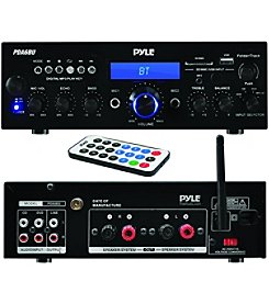 Pyle Home 200-Watt Bluetooth Stereo Amp Receiver with USB/SD™ Card Readers