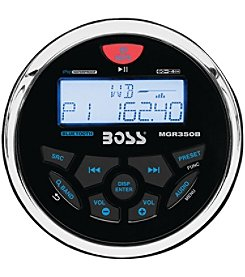 Boss Audio Marine-Gauge In-Dash Mechless AM/FM Receiver With Bluetooth