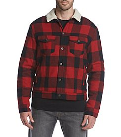 Ruff Hewn Men's Plaid Trucker Jacket