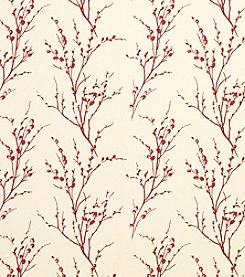Laura Ashley Pussy Willow Cranberry Wallpaper