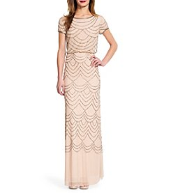 Adrianna Papell® Beaded Dress With Cinched Waist