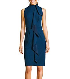 Adrianna Papell® Knit Crepe Mock Neck Dress