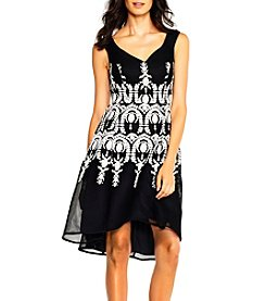 Adrianna Papell® Embroidered V-Neck Dress