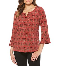 Rafaella® Regal Arc Pattern Top