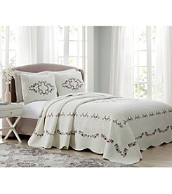 Laura Ashley® Kristen Embroidered Bedspread