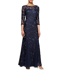 Alex Evenings® Long Embroidered Dress