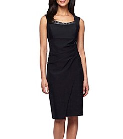 Alex Evenings® Beaded Neckline Sheath Dress