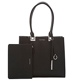 Calvin Klein Faux Leather Tote
