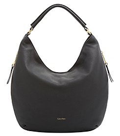 Calvin Klein Samira Pebbled Leather Hobo