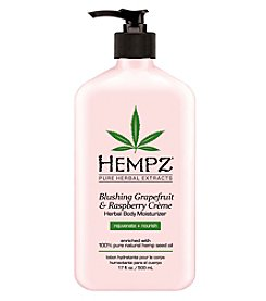 Hempz Blushing Grapefruit and Raspberry Creme Herbal Body Moisturizer, 17 oz.