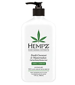 Hempz Fresh Coconut and Watermelon Herbal Body Moisturizer, 17 oz.