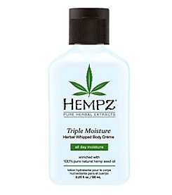 Hempz Triple Moisture Herbal Whipped Creme Body Moisturizer, 2.25 oz.