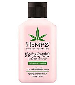 Hempz Blushing Grapefruit and Raspberry Creme Herbal Body Moisturizer, 2.25 oz.