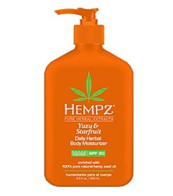 Hempz Yuzu and Starfruit Daily Herbal Body Moisturizer with SPF 30