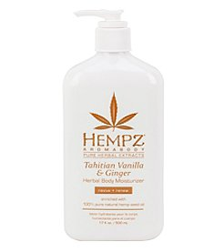 Hempz Tahitian Vanilla and Ginger Aromabody Herbal Body Moisturizer, 17 oz.