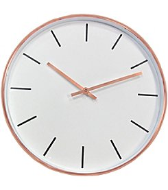 Timekeeper 15 Inch Round Copper Metal Wall Clock