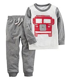Carters® Boys' 2T-4T 2 Piece Long Sleeve Top and Pants Set