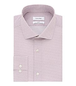 Calvin Klein Garnet Dot Print Spread Collar Slim Fit Shirt